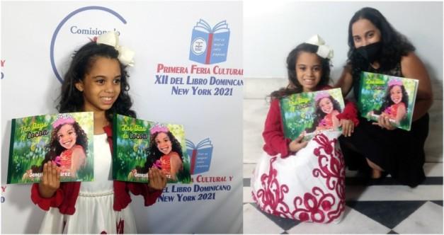 Génesis D. Tavarez la escritora de 8 años que deslumbró en Primera Feria Cultural y XII del Libro Dominicano